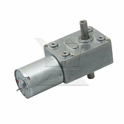 Silver Metal 30RPM High Torque Turbo Worm Speed Reducer Geared DC6V Motor JGY370