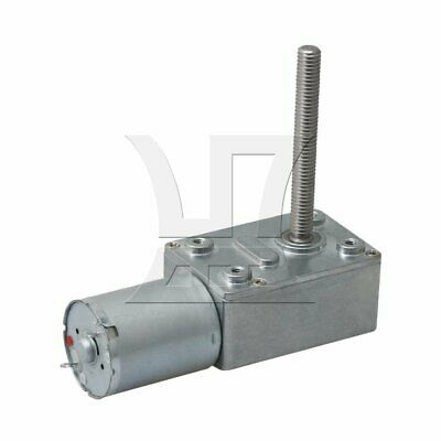 DC 6V 40RPM Worm Gear Motor Speed Reducer Turbine Reduction Gearbox 6mm Shaft