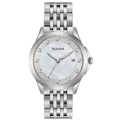 Brand New Bulova #96P174 Mother-Of-Pearl Diamond Women's Watch