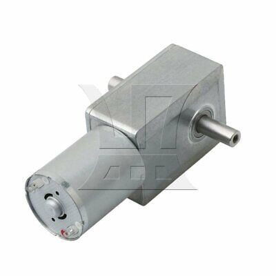 Silver Metal 40RPM Turbo Worm Speed Reducer Geared DC6V Motor JGY370 for Grill