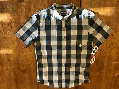 5f4b57b062 Modern Amusement Plaid Check Shirt Black/White/Gray Grey Pac Sun Medium M