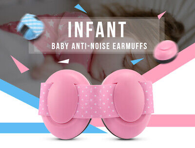 1 Pair of Infant Baby Anti-noise Earmuffs Elastic Strap Ear Protection