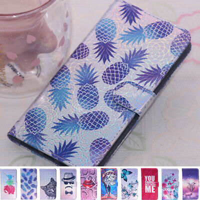 Patterned Wallet Card Holder Stand Case Cover For iPhone XS Max X XR 8 7 6s Plus