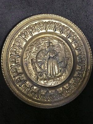 Vintage Antique Peerage Brass Wall Plate Decor ,Made in England