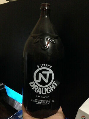 Empty 2 litre NT Draught Beer Bottle, in family since late 80's, dusty, used