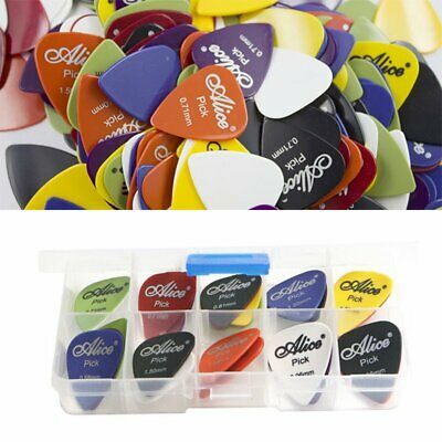 24/50/60x Acoustic Electric Guitar Picks Plectrum Various 6 Thickness Case UU
