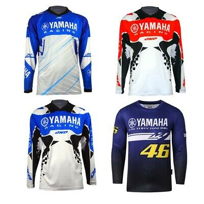 Jnc Yamaha Racing Team Long Sleeve Shirt Motocross Motorcycle Bike Men's Jersey