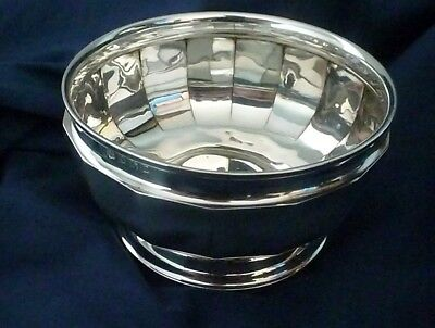 Art Deco Period Small English Sterling Silver Bowl by William Neale & Son 1928