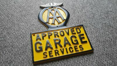AA Approved Garage Services Wall Sign Schild Metall Schild