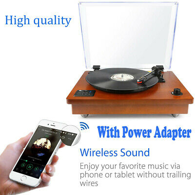 1Byone 3-speed Wooden USB Vintage Turntable Record Player Built-in Speaker Best