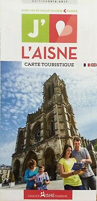 L'AISNE Tourist Map - Local Attractions - Free UK Postage