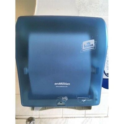 Pair of Lotus enmotion touchless hand towel dispensers paper tissue bathroom 2x