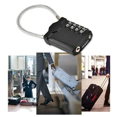 TSA Resettable 4 Digit Combination Lock Travel Luggage Suitcase Lock Padlock