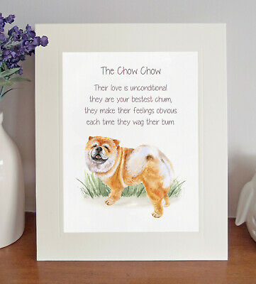 Chow Chow BESTEST CHUM Dog Poem, 8x10 Picture/Print, Fun Novelty Gift