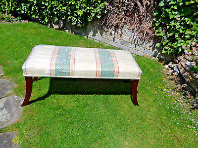 Regency Leg Duet Stool Looks Like Recently Reupholstered.