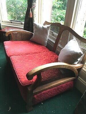 Antique Bergere / Cane / Reeded suite - 2 seater settee & 2 armchairs - restored
