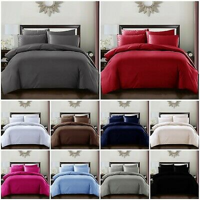 New Duvet Cover with Pillow Case Quilt Cover Bedding Set Single Double King Size