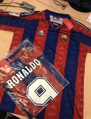 BNWT Barcelona Kappa Retro Shirt Ronaldo 1997 1998 All Sizes