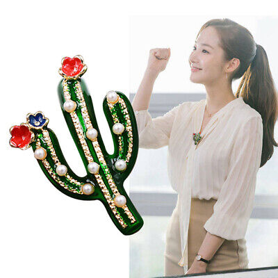 Creative Badge Corsage Plant Cactus Prickly Pear Jewelry Gifts Collar Brooch N7