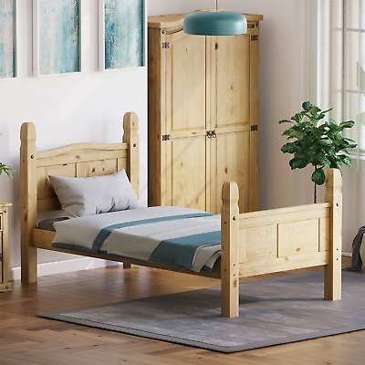 Corona Single Bed 3ft High Foot End Mexican Solid Pine Frame Bedroom Furniture