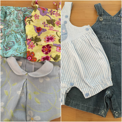 Bundle of FIVE - Baby Girls Designer French Clothing (Age 6 months)