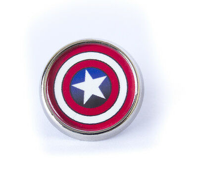 Cool Captain America The Avengers Shield Lapel/Tie Pin Badge