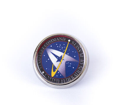 Star Trek Tie/Lapel Pin Badge Choose Starfleet Command or Federation of Planets