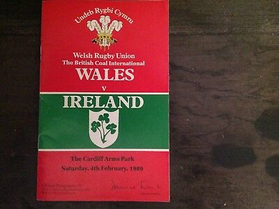 Wales Rugby Union v Ireland (04/02/89)