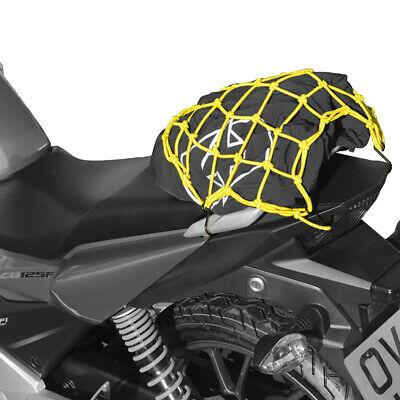 Oxford Cargo Net Hook Motorcycle Luggage Bright Net Yellow 15 x 15 OX659 T