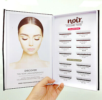 Noir Premade Fans Lash Extension Display Book 2019-2020 Russian Lashes