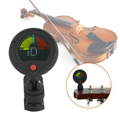 Digital Chromatic LCD Clip-On Electric Tone Tuner for Bass,Guitar,Ukulele,Violin