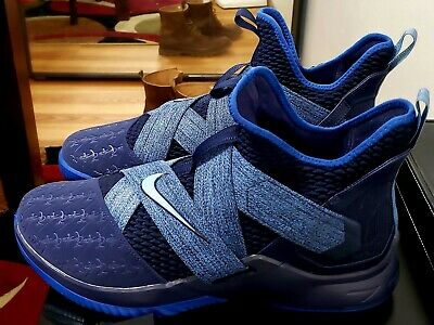huge discount 512ff da298 Nike LeBron Soldier XII 12 Anchor Basketball Shoes Size 17 Mens Blackened  Blue