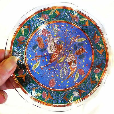 Antique c. 1890, BOTH-SIDES Enameled Glass unsigned Moser, Persian Islamic Style