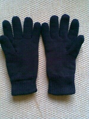 Brand New Pair Of Peter Storm Mens Black Thinsulate Knit Gloves Size Extra Small