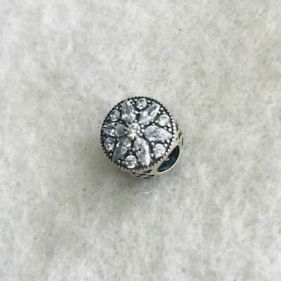 @Authentic Pandora Sterling Silver Radiant bloom Crystal Charm 791762CZ