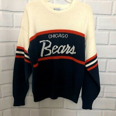 Vintage 80's CHICAGO BEARS Cliff Engle Wool Blend Sweater Men's M NFL Mike Ditka