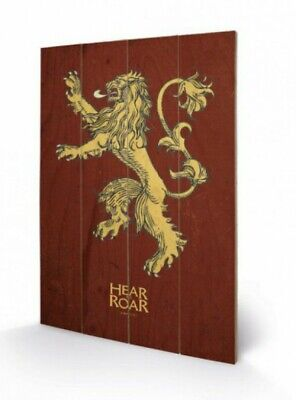 Game Of Thrones - Lannister Sigil Crest Poster On Wood Picture (24x16in) #79500