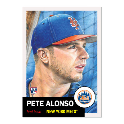 2019 Topps Living Set 176 Pete Alonso RC New York Mets Retro 1953 Style
