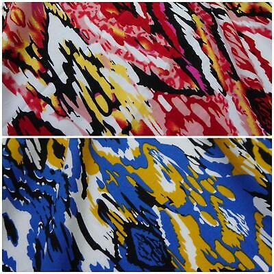 Psychedelic 100% Viscose Fabric Tribal Print-2 Colourways