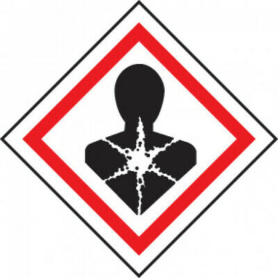 Caledonia Signs - 58156 - Ghs Label - Health Hazard - 250 S/A - 100 X 100 Mm A4