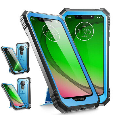 "For Moto G7/G7 Plus /G7 Power /G7 Play Case ""Shockproof""Cover-【Revolution】Blue"