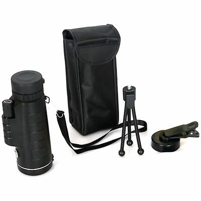 40X60 Day&Night Vision Dual Focus HD Zoom Monocular Scope Bird Golf Phone Tripod