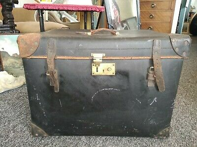 C.1890 Early 19th Century Travel Trunk Luggage Case By F. Best London antique