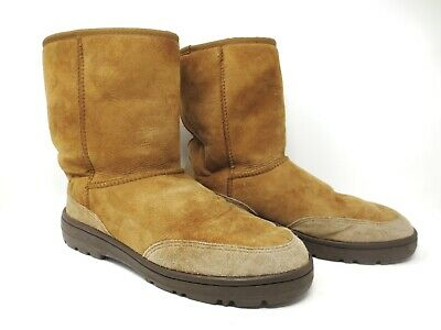 9412c1190d3 MENS UGG 5220 NEW ZEALAND Ultra Short Leather BOOT BROWN 12 ...