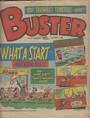 Comic. Buster. 2nd April, 1983