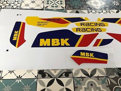 kit autocollants mbk 51  rock racing jaune sophia