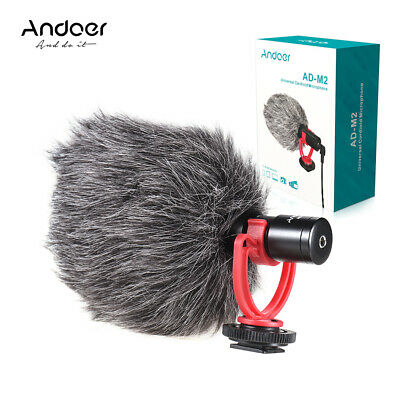 Andoer AD-M2 Cardiod Shotgun Video Microphone MIC for iPhone Samsung Camera F6O7