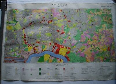 Collectors/ Vintage East London (Tq48 And Tq58) Land Use Sheet 225 - Free P&P