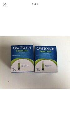 2 Boxes Of One Touch Select Plus test strips 50 (100 Strips In Total) 7/2020