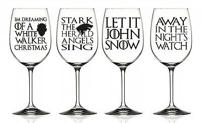 Game of Thrones Funny Vinyl Christmas Glass Decal Sticker Set